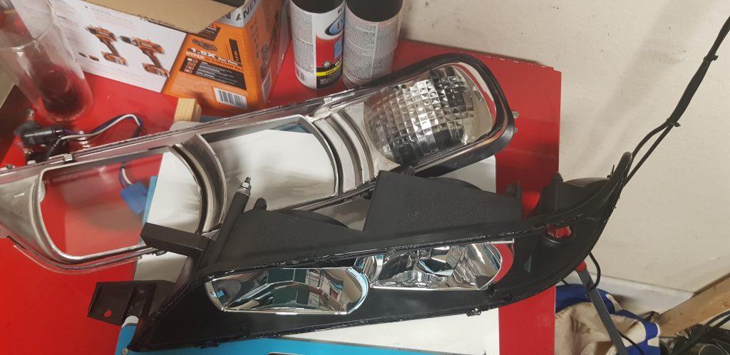 R34 Nissan Maxima head lights.